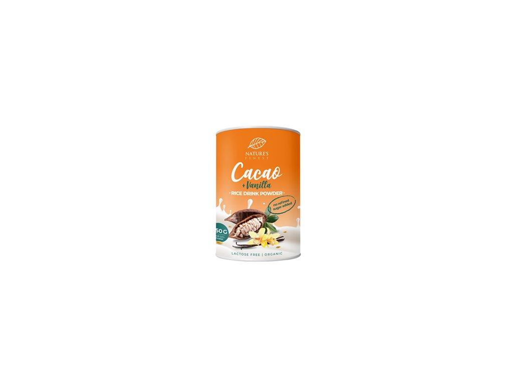 Rice Drink Powder Cacao + vanilla Bio 250g  (Veganská alternativa mléka / Rýžový prášek k přípravě BIO nápoje)