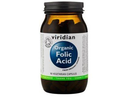 Folic Acid 90 kapslí Organic