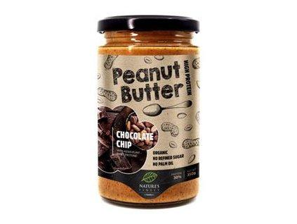 Peanut Butter Chocolate Chip Bio 350g (Bio Arašídový krém čokoládový)