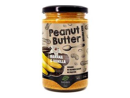 Peanut Butter Banana & Vanilla Bio 350g (Bio Arašídový krém banáno-vanilkový)
