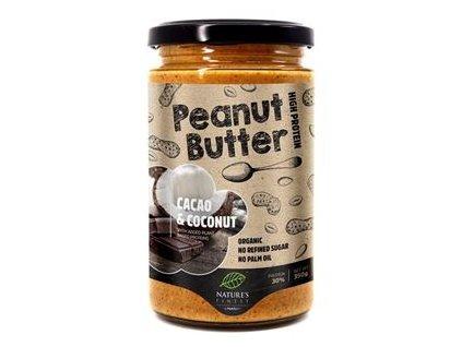 Peanut Butter Cacao & Coconut Bio 350g (Bio Arašídový krém kakao-kokosový)