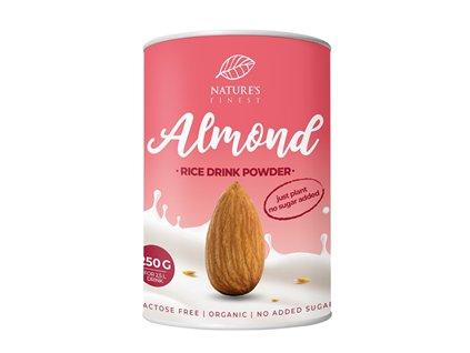 Rice Drink Powder Almond Bio 250g  (Veganská alternativa mléka / Rýžový prášek k přípravě BIO nápoje)