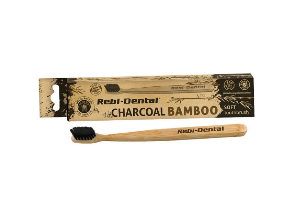 szczoteczka do zebow premium soft z ekologicznie czystego bambusa m62 rebi dental charcoal bamboo