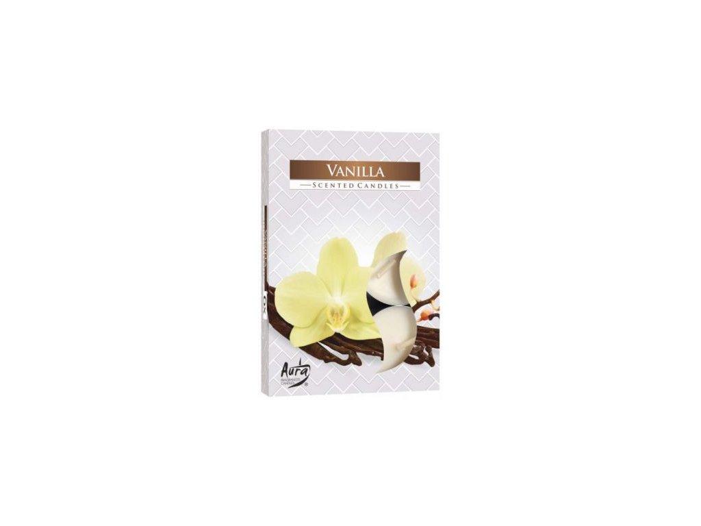 Čajová vonná svíčka Vanilka 6ks