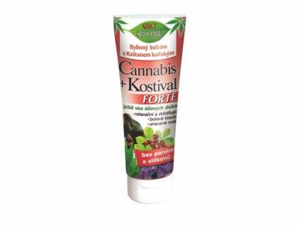 bylinny balzam s kastanem konskym cannabis kostival forte 200 ml 809