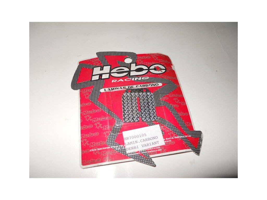 Karbonové lístky Hebo, pro domek Derbi Variant