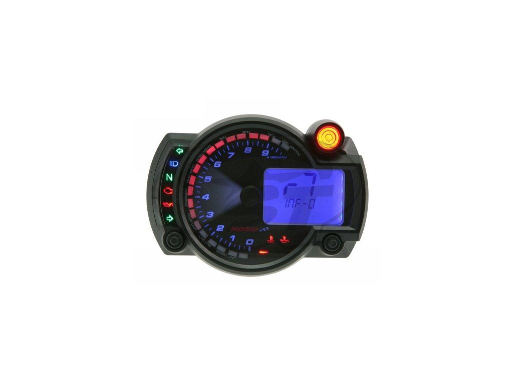 Přístrojová deska KOSO Digital Cockpit RX2N PLUS, do 10tis. ot., černá modrá