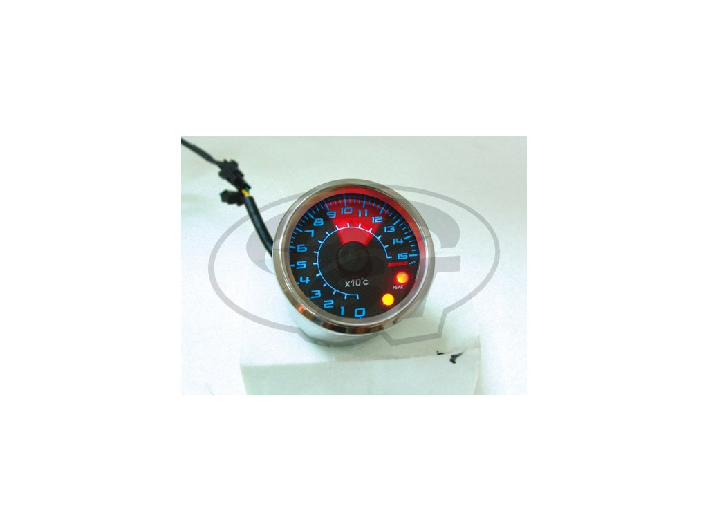 Teploměr KOSO GP Style, 48 mm, karbonový podklad