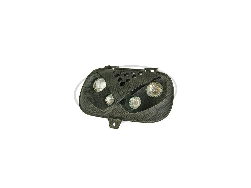 Přední světlo STR8 Quattrooptik, BWs Booster NG, karbon