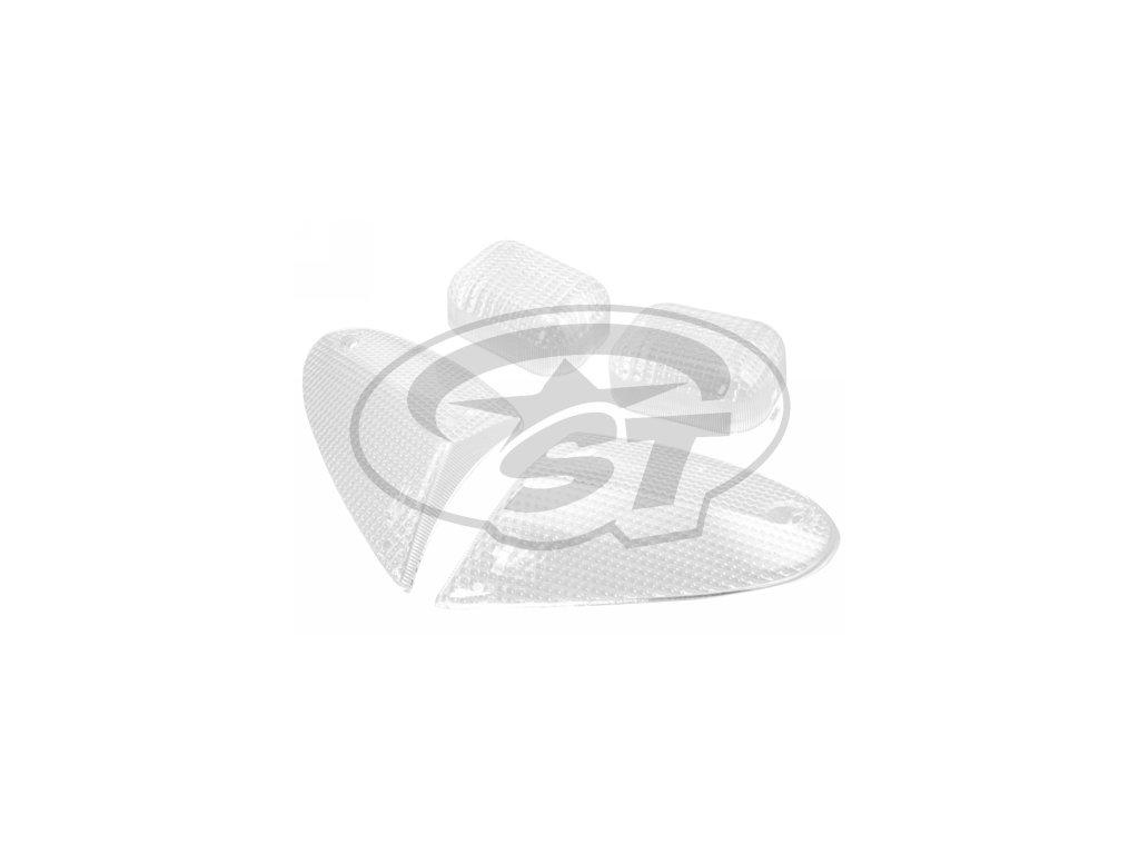 Bílé sklíčka blinkrů STR8, Aprilia SR 50 od r.v. 00, bílá