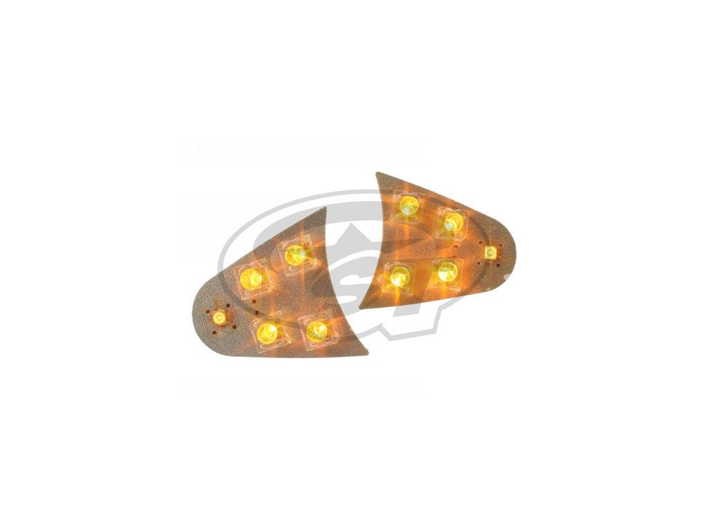 Blinkry STR8 LED, pro dvojitou optiku, oranžová