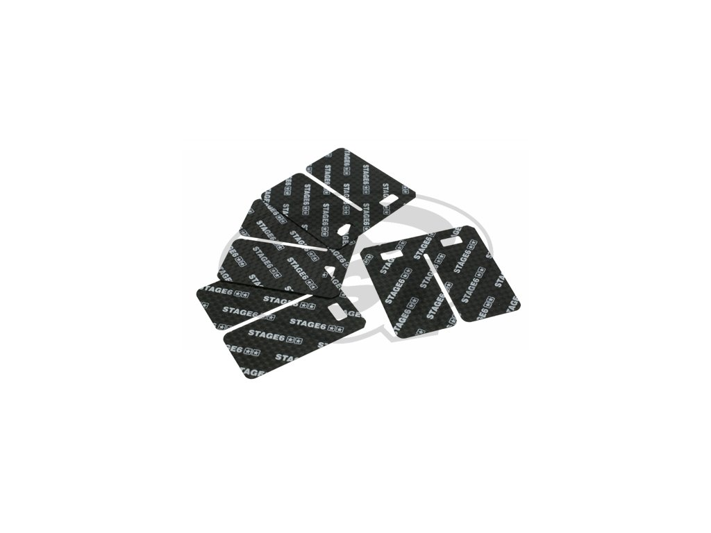 Lístky pro klapky Stage6 VForce3, 0,35 mm, karbon