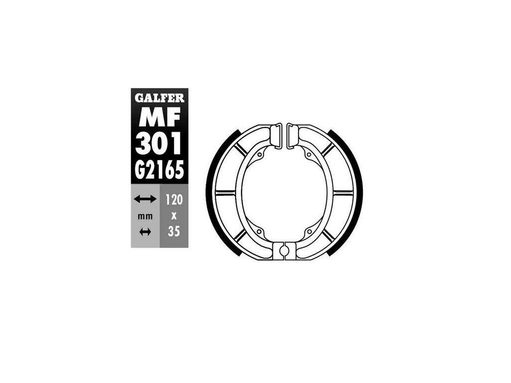 Brzdové pakny Galfer, T12