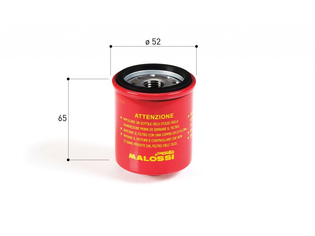 Olejový filtr Malossi RedChilli, Piaggio Leader 125-300ccm 4T