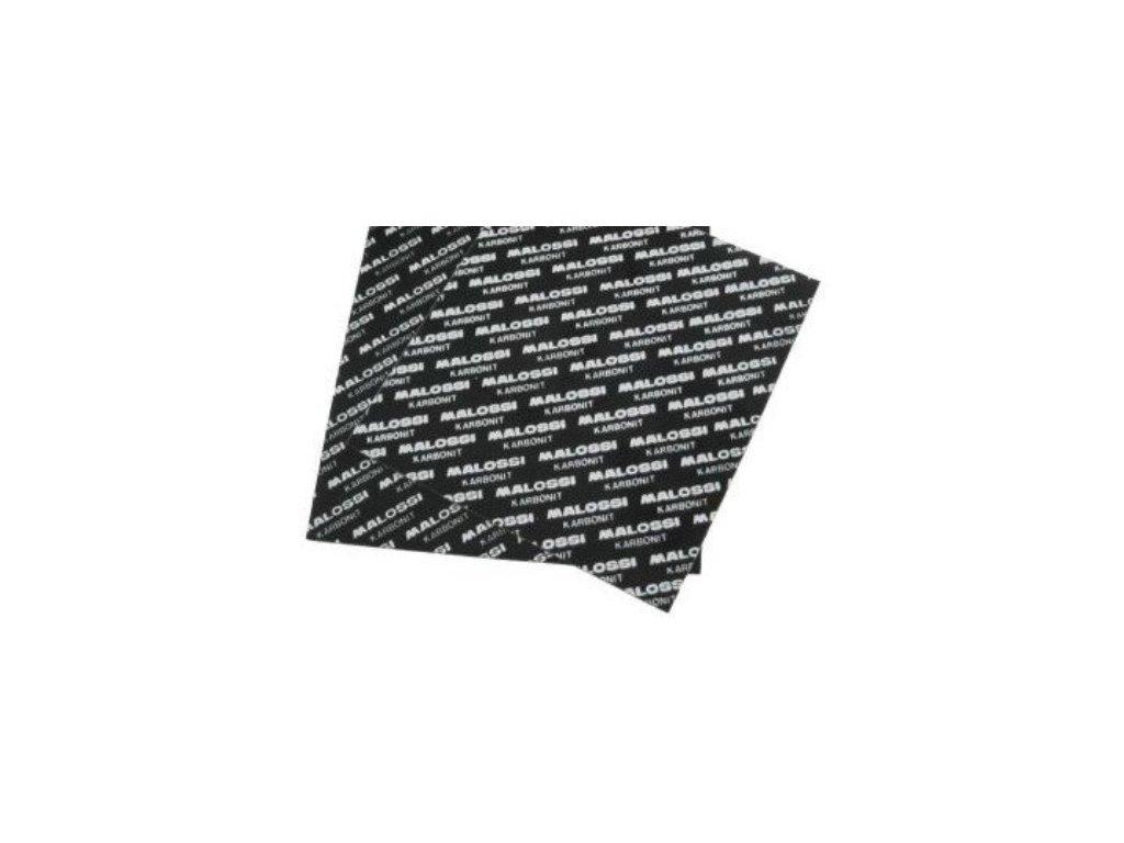 Materiál na lístky klapek Malossi, Karbonit, 0,35mm 2x 100x100mm