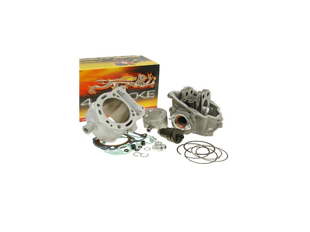Válec 218cc + hlava V4 Head + vačka Malossi , Piaggio 125-200cc 4T LC karburátor