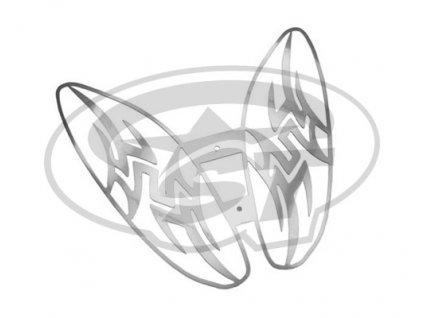 Mřížka LENNES Optikparts, Tribal Design, Yamaha Aerox, nerez