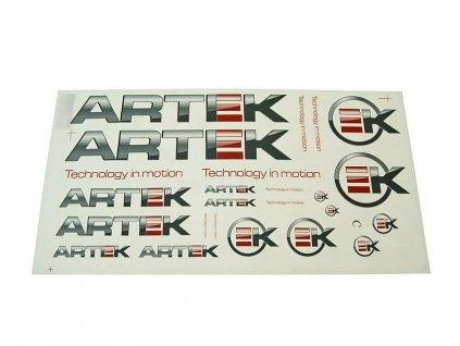 Sada samolepek ARTEK šedo-červená 44x23cm