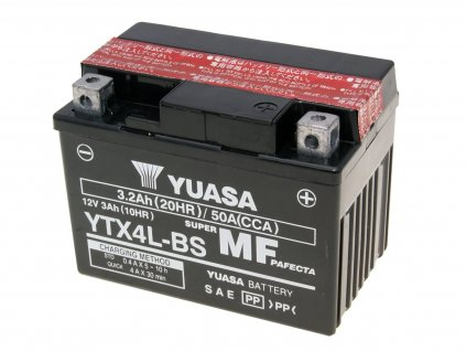 Baterie Yuasa YTX4L-BS bezúdržbová