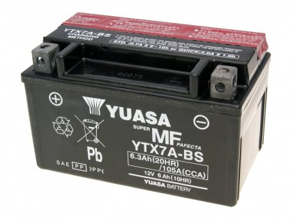 Baterie Yuasa YTX7A-BS bezúdržbová