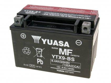 Baterie Yuasa YTX9-BS bezúdržbová