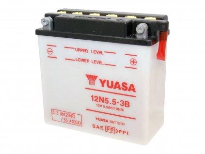 Baterie Yuasa 12N5.5-3B bez kyseliny