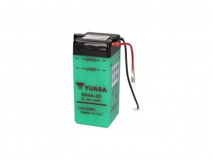 Baterie Yuasa 6N4A-4D bez kyseliny