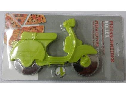 Kráječ na pizzu, světle zelený