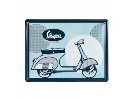 """Plechová cedule Vespa """"Logo"""" hranatá"""