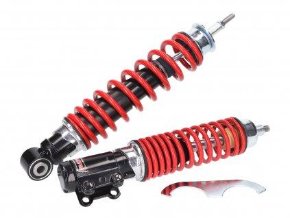 Sada tlumičů Carbone Sport černá / červená, Vespa ET4, LX, LXV 125-150cc