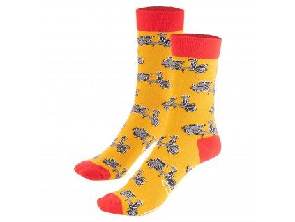 Ponožky Vespa Kickstarter, oranžová/červená, unisex, 41-46