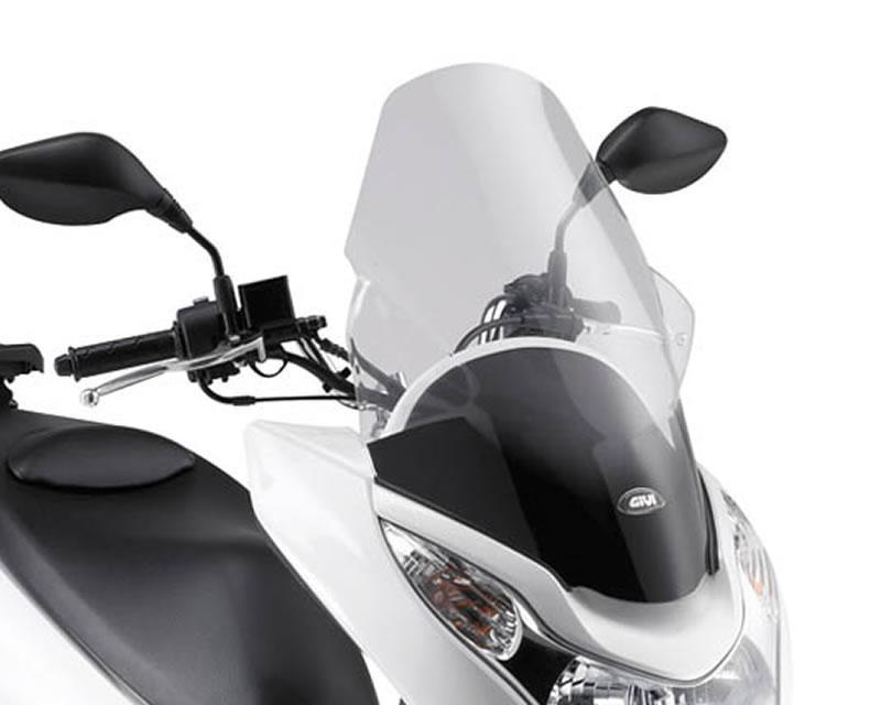 Plexi GiVi, čiré, Honda PCX 125 od r.v. 2010 do 2014 WS-D322STG