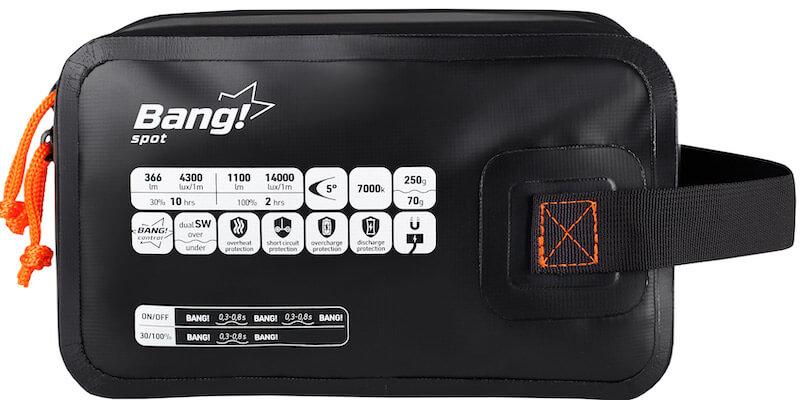 Svítilna na potápění BANG Spot - obal s popisem