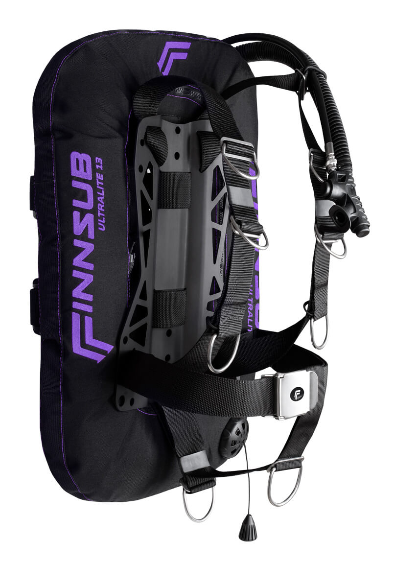 Křídlo Finnsub Fly Ultralite set purple- s kapsama