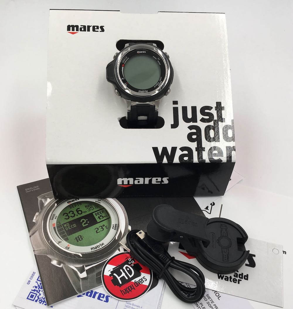 Potápěčský počítač Mares Matrix balení černý