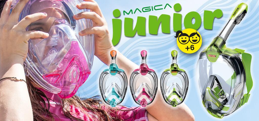 Celooblicejova snorchlovaci maska Seac Magica Junior banner