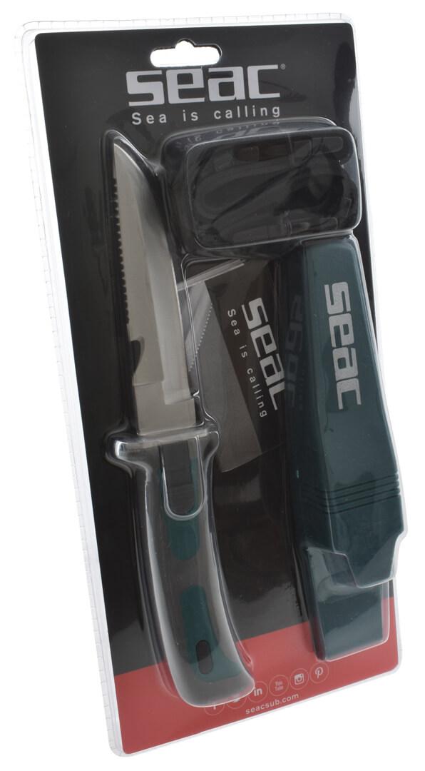 Potápěčský-nůž-Seac-Bat-zelený-balení