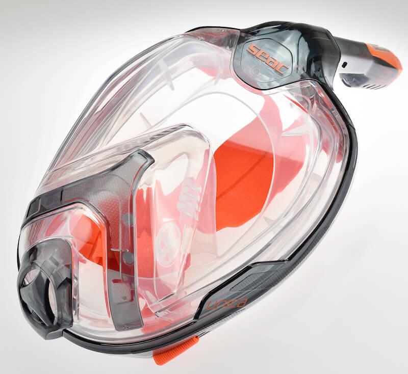 Celoobličejová šnorchlovací maska Seac Unica černo/oranžová