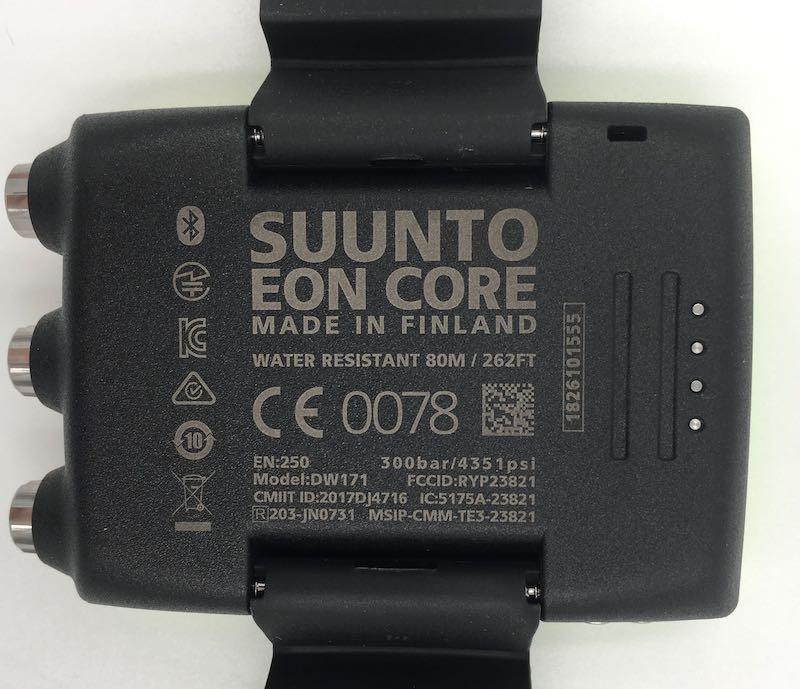 Potápěčský computer Suunto Eon Core zadní strana