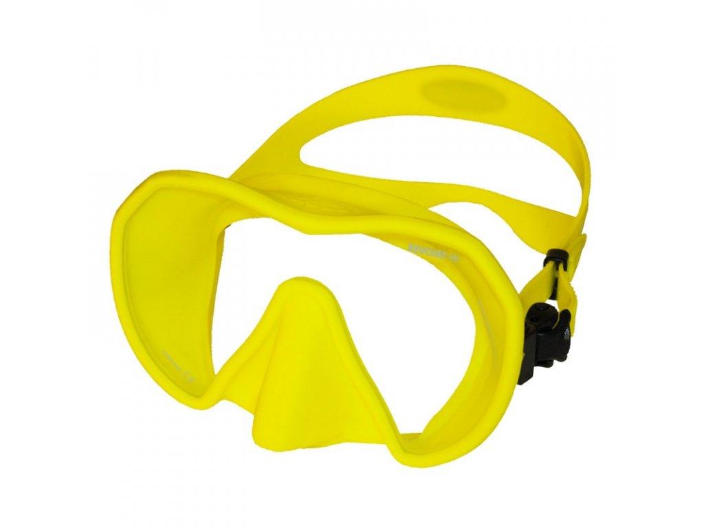 Maska Beuchat MAXLUX S žlutá