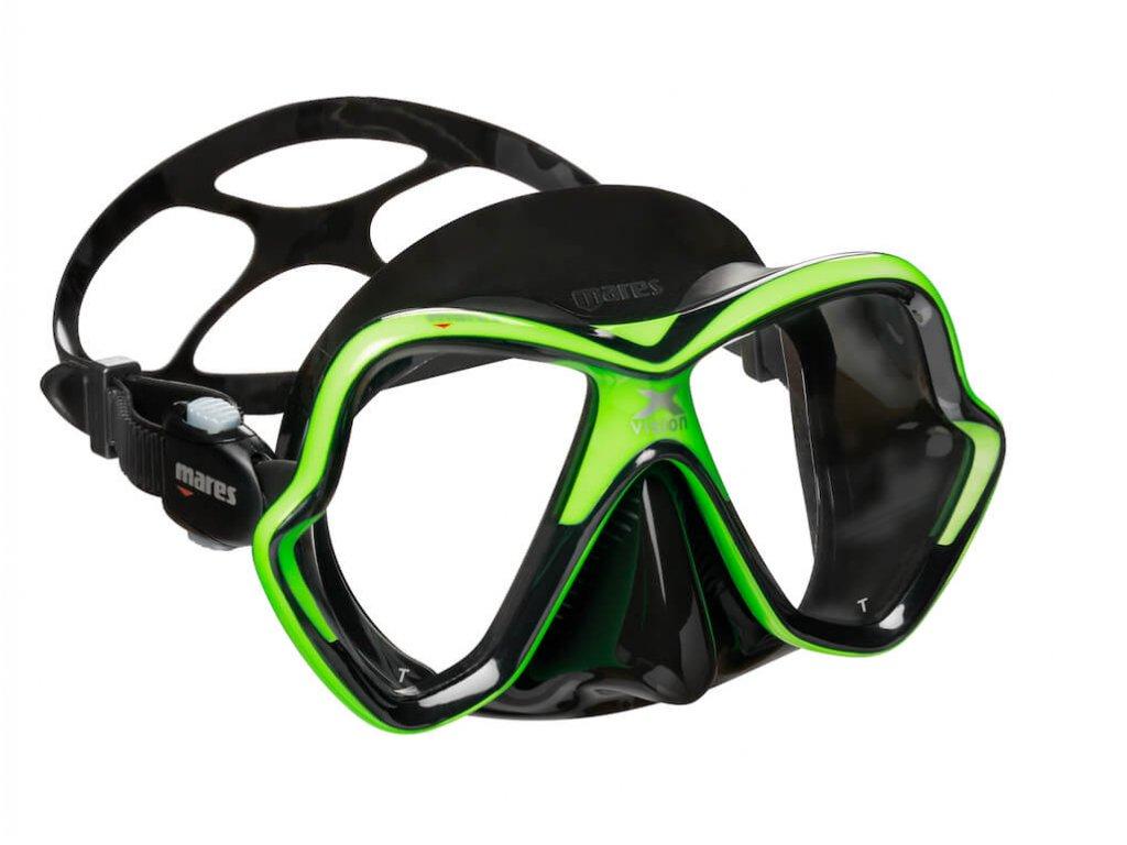 Potapecska maska Mares X Vision lime