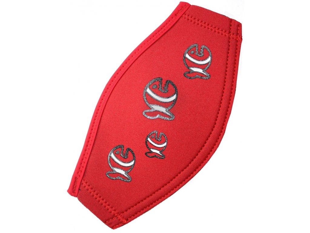 Neoprénový pásek na masku iQ červený