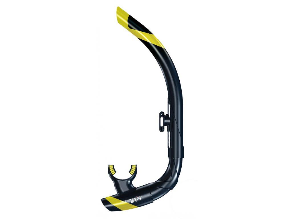Šnorchl Atomic Aquatics SV1 Contour žlutý/černý