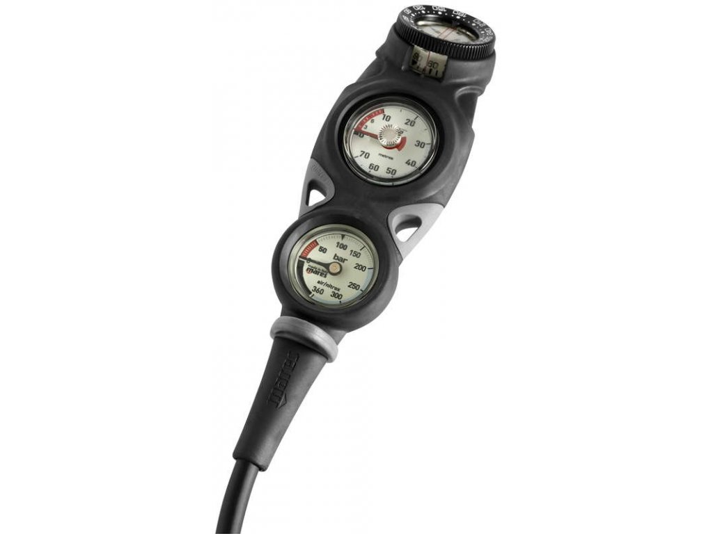 Konzole Mares MISSION 3 kompas/manometr/hloubkoměr