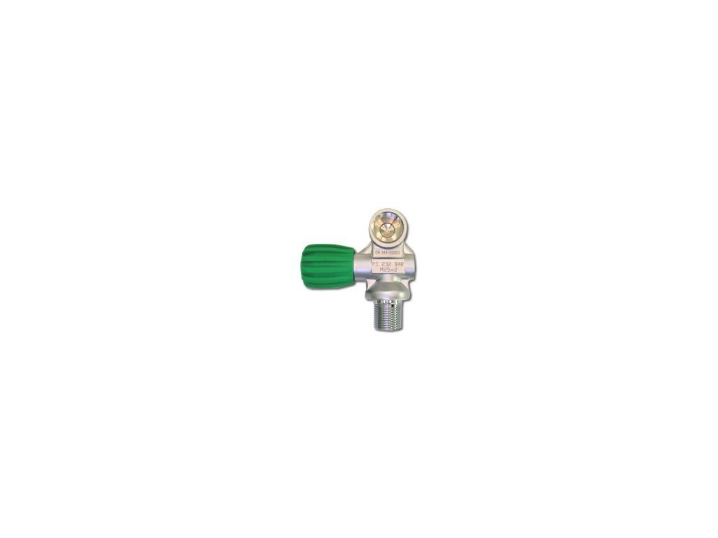 Ventil na mono láhev NITROX M25x2 232 bar
