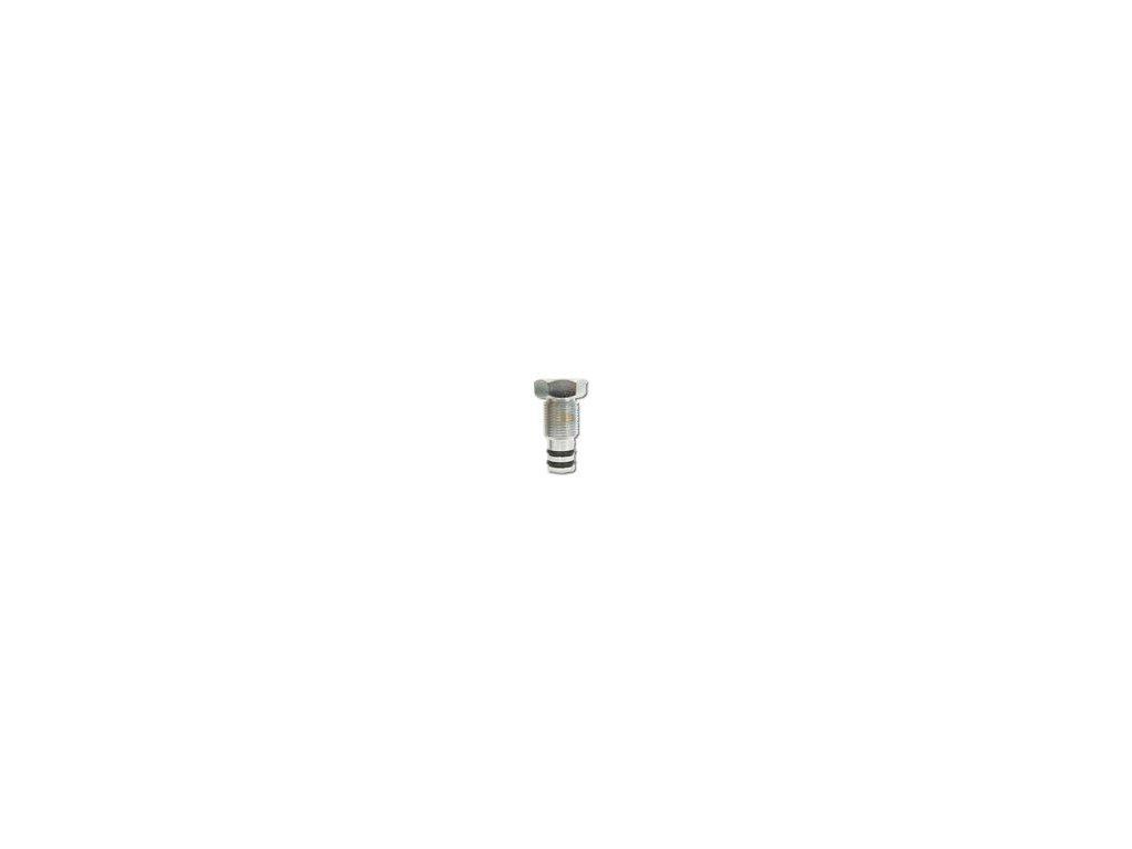 Záslepka na levý ventil (vývod pro manifold)