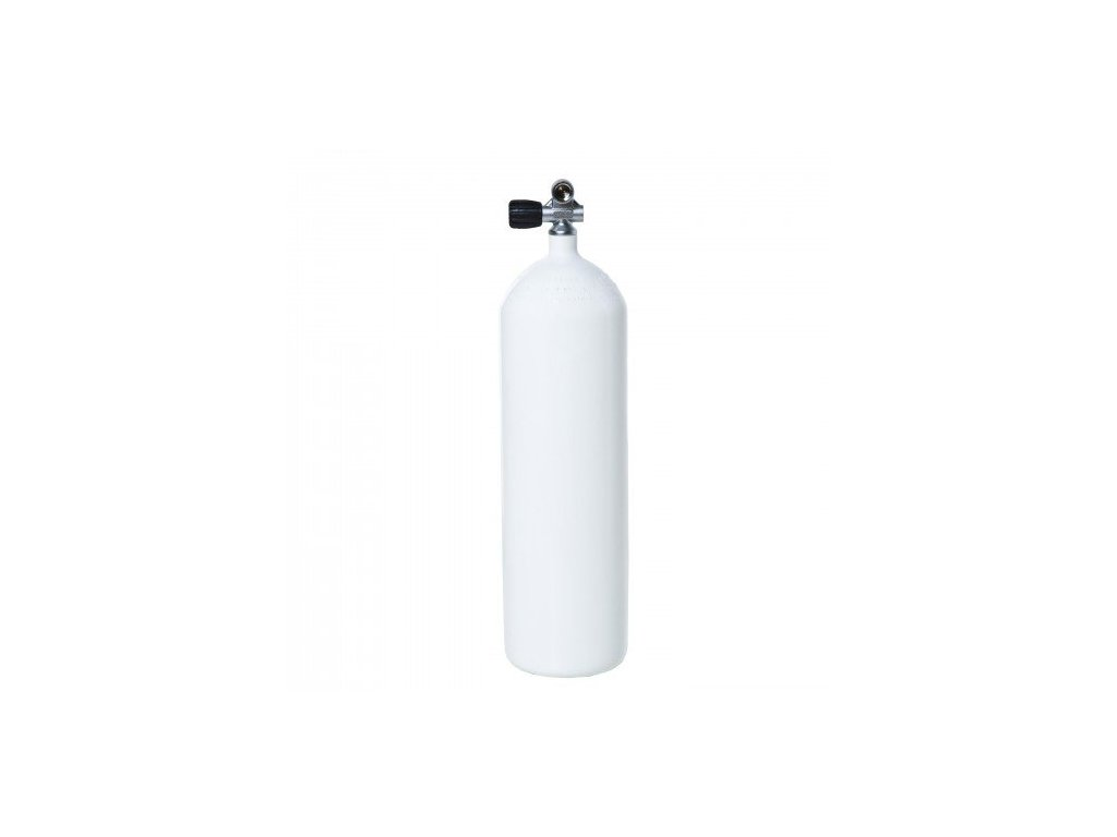 Láhev ocelová Vítkovice 10 L 230 bar, 171 mm, rovné dno + monoventil