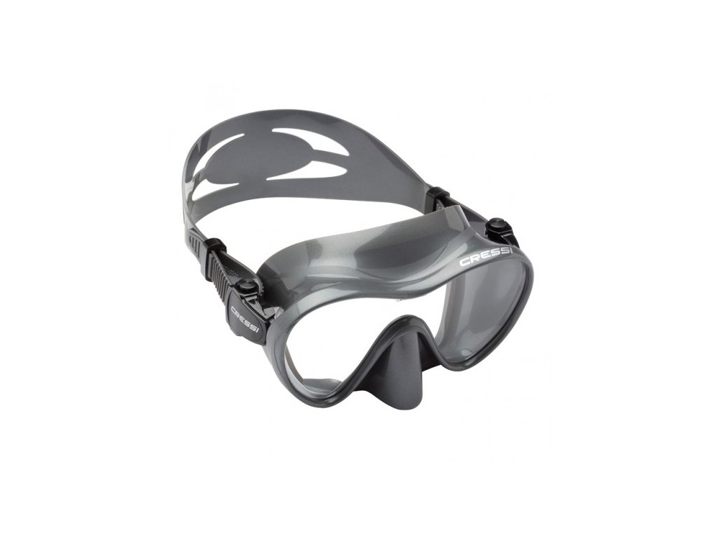 Maska na potápění Cressi F1 Frameless stříbrná