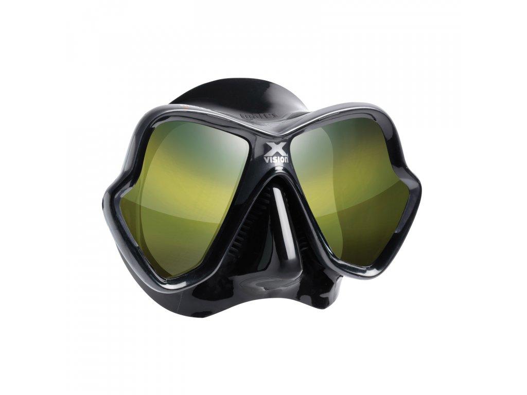 Maska Mares X-Vision Liquidskin Ultra černá, zlatě tónovaná skla