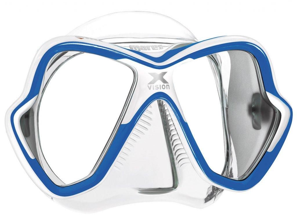 Maska Mares X-Vision transparent/modrá